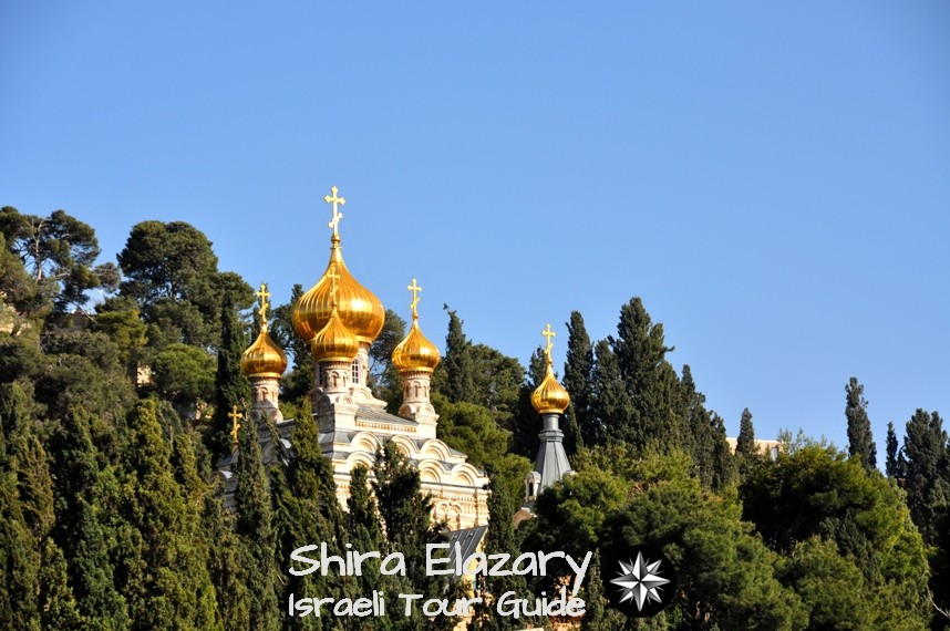 Russian Orthodox church and convent of Mary Magdalene on the Mount of Olives