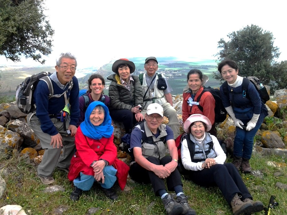 Myself with Tomoaki Naganawa's Jesus Trail group