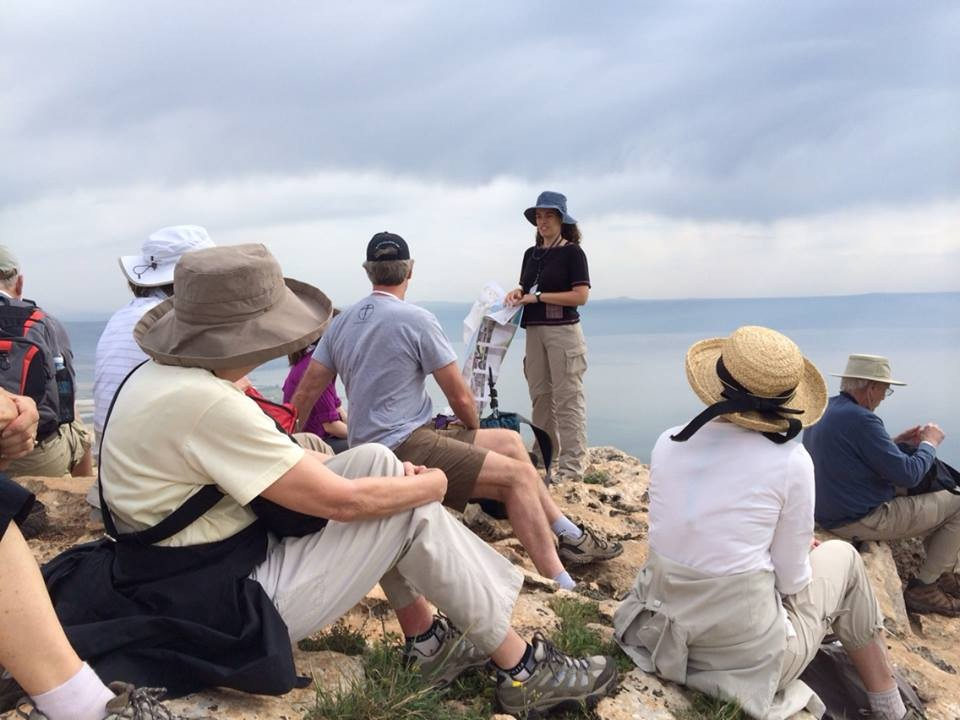 Jesus Trail Group overlooking Sea of Galilee