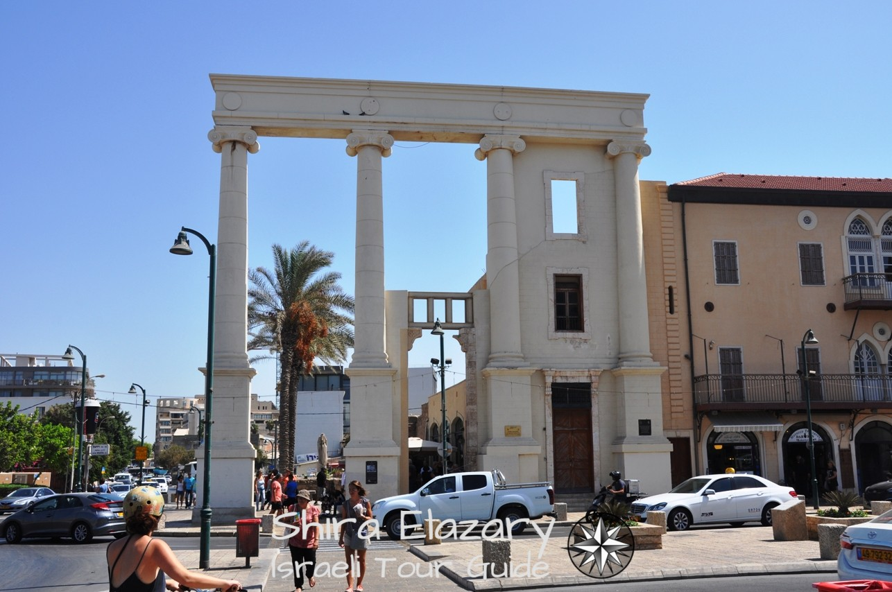 The remaining facade of the new Seraya of Jaffa
