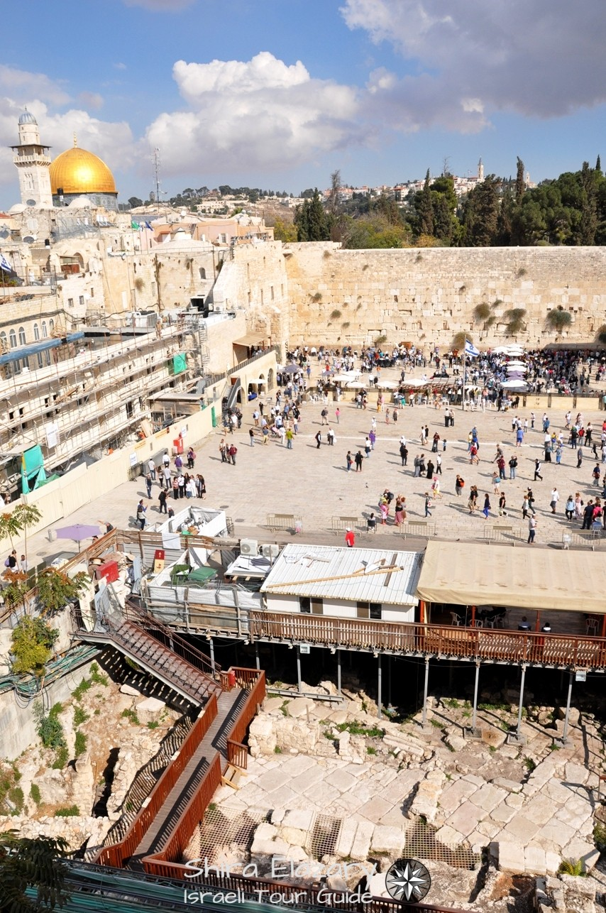 Western Wall Plaza with Excavations and Dome of the Rock on a Jerusalem private tour