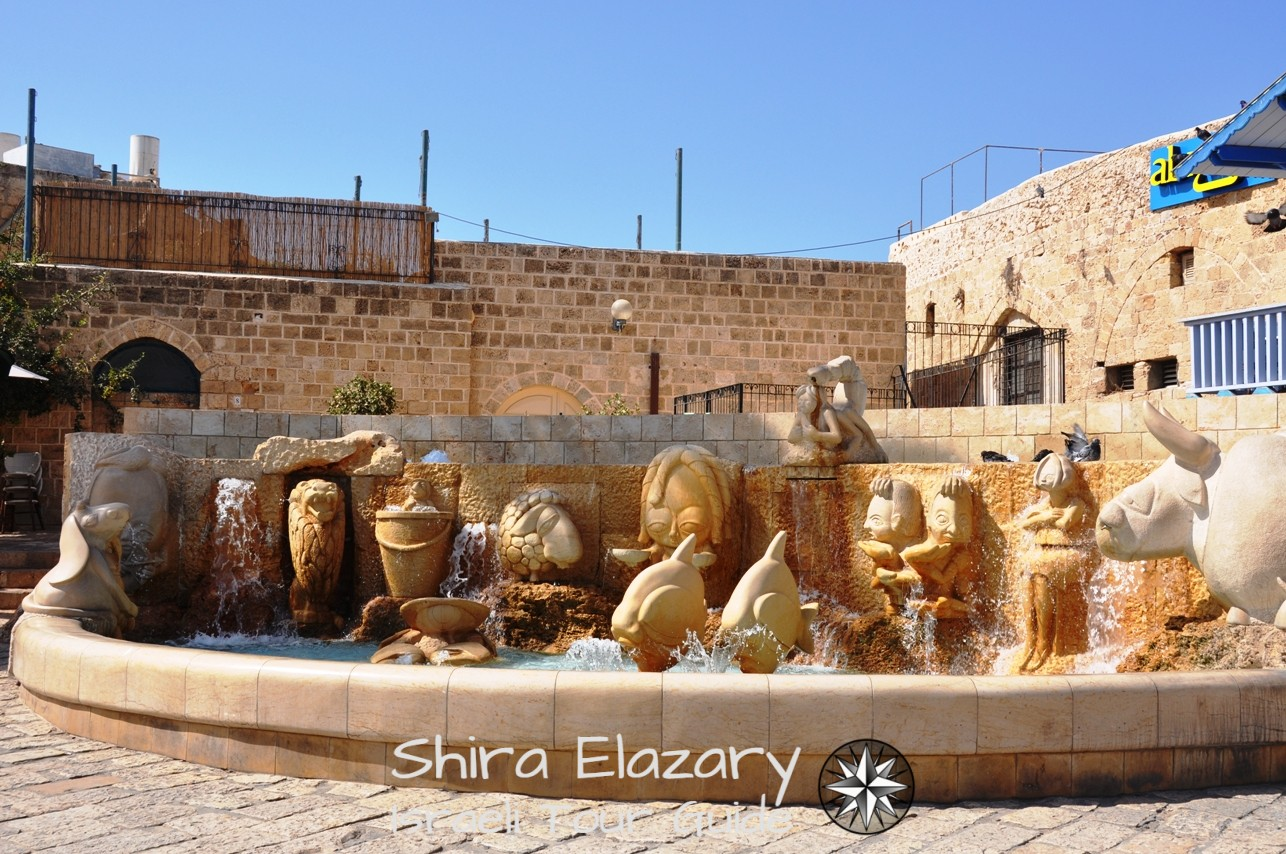 A fountain featuring the 12 zodiac signs in Old Jaffa